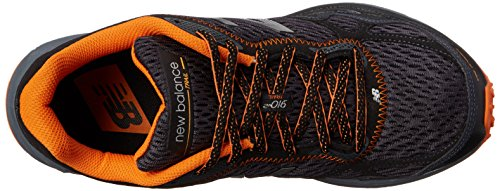 New Balance Men's MT910V2 Trail Shoe, Black/Orange, 10 4E US (nero/arancione)