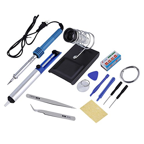 Electronic/Wood Tools Kit Complete Set Soldering Beginner Equipment DIY Hand Craft Toy Tools Suitable for Electronics hobbies kits, Wood burning and Repair work Idea Inventor Gifts - Mcgregor Sunglasses