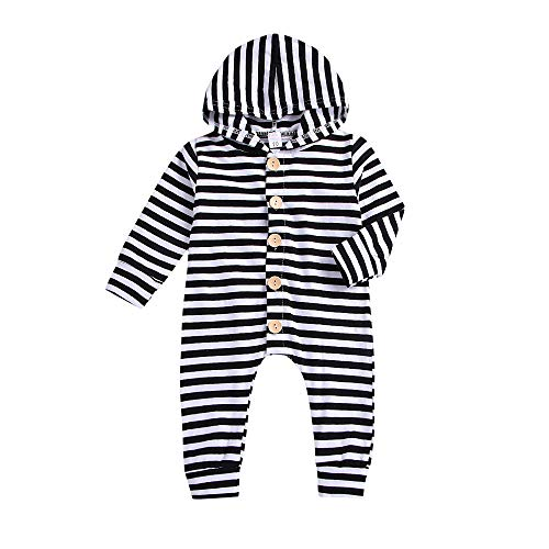 kaiCran Toddler Baby Stripe Romper Long Sleeve Button for sale  Delivered anywhere in USA