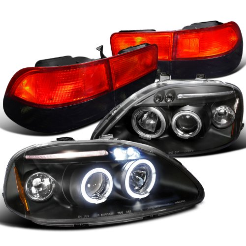 96 honda civic halo headlights - 7