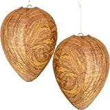 Mood Lab Wasp Nest Decoy - 2 Pack - Eco Friendly Hanging Wasp Repellent