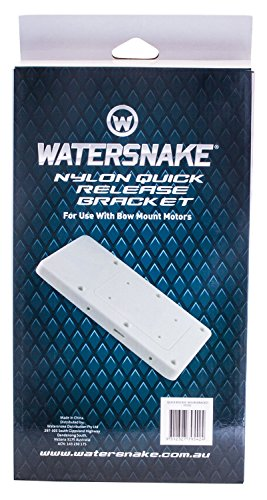 (Watersnake Quick Release Nylon Bracket (White, 14-Inch).)