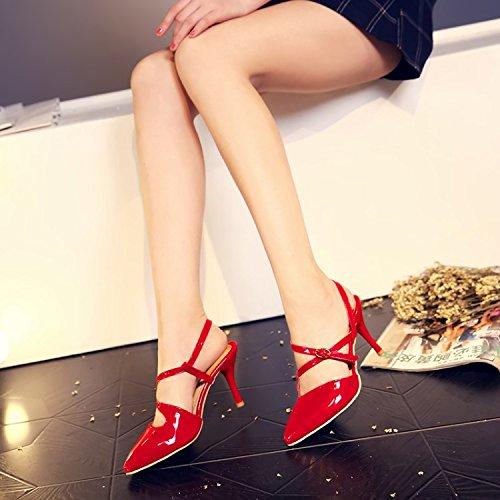 cinturino alto sandali a White con sandali punta tacco con ZHZNVX Sexy T con a HYvFxaA
