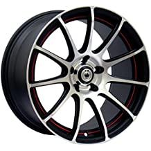 "Konig Zero-In Matte Black Wheel with Red Undercut (16x7""/5x110mm), dual-drilled"