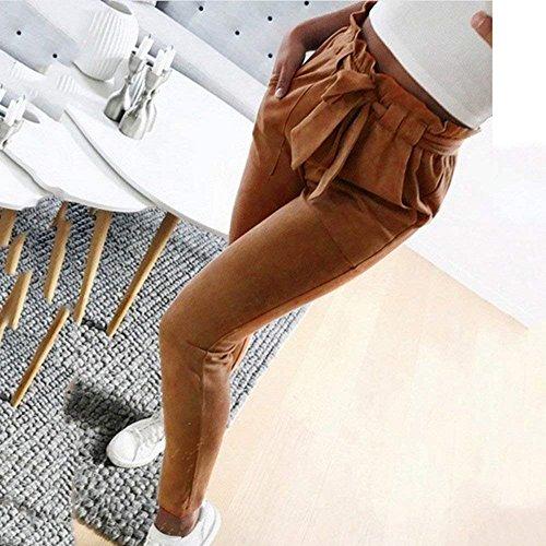 Fit Matita Semplice High Pantaloni Slim Glamorous Inclusa Lunghe Pantaloni Solidi HaiDean Libero Pants Elegante Estivi Pantaloni Cintura Fashion Colori Waist Donna Braun A Tempo UExx0a