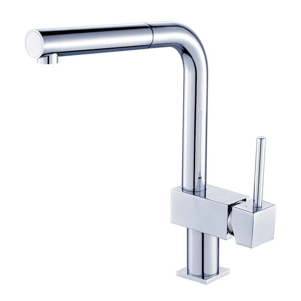 Auralum® 360 ° girevole vanno rubinetto della cucina monocomando rubinetto del lavandino della cucina Einhandmischer con estraibile soffione montaggio Temtop