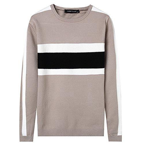 Jdfosvm männer - Pullover im Herbst - Winter warm Collar Pullover,Khaki,XXL