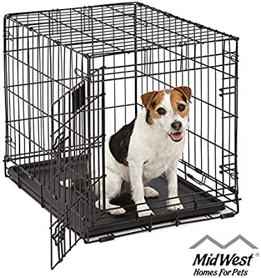 Amazon Com Life Stages Ls 1624 Single Door Folding Crate For Small Dogs 11 25lbs Pet Kennels Pet Supplies