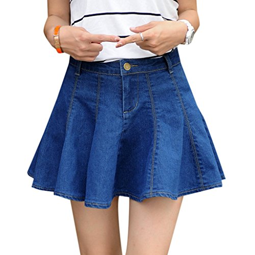 EGELBEL Women's Flouncing Denim Mini A Line Skirts for sale  Delivered anywhere in USA