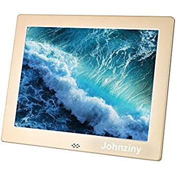 Picture Frame 8 inch Metal Digital Photo Frame IPS (4:3) 1024x768 Display with Remote Control,Play Photo/Music/Video/Calendar/12 Languages,with ...