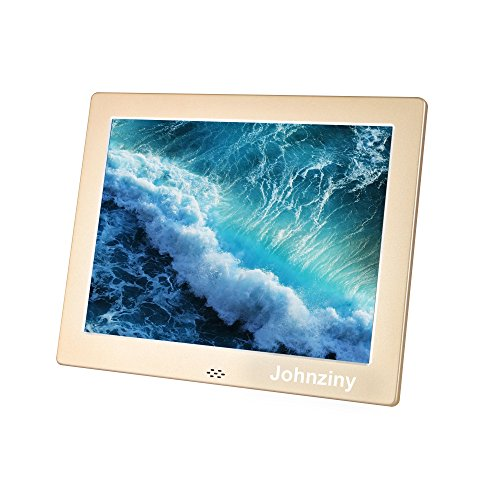 Digital Picture Frame 8 inch Metal Digital Photo Frame IPS (4:3) 1024×768 Resolution with Remote Control,with USB/SD/MMC/MS Card Port,Play Photo/Music/Video/Calendar/12 Languages