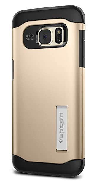 purchase cheap 54592 9f675 Spigen Slim Armor Galaxy S7 Edge Case with Kickstand and Air Cushion  Technology and Hybrid Drop Protection for Samsung Galaxy S7 Edge 2016 -  Champagne ...