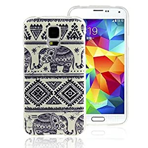Generic Hard plastic Case Cover for Samsung Galaxy S5 I9600 (Elephants)