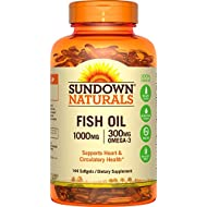 Sundown Naturals Fish Oil +24 Bonus Soft Gels 1000 mg, 144 Count