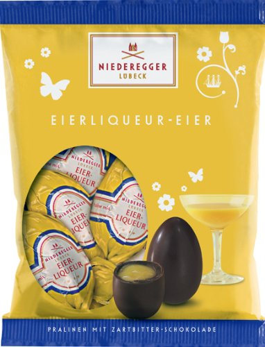 Niederegger Egg Liqueuer (Advokat) Filled Easter Eggs in a bag - 85g/3.02 Oz