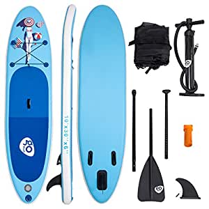 """Goplus Inflatable Stand Up Paddle Board iSUP Cruiser 6"""" Thickness iSUP Package w/3 Fins Thuster, Adjustable Paddle, Pump Kit and Carry Backpack (Bikini Girl, 10 FT)"""