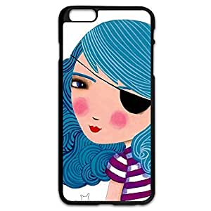 IPhone 6 Plus Cases Bule Girl Design Hard Back Cover Cases Desgined By RRG2G