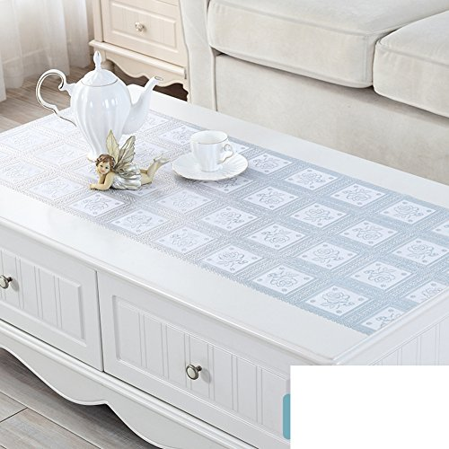 - HMWPB PVC, Lace, Dressing Table, Matt Cabinet tv, Bronzing Silver, Table Cloth, Coffee Table mat, Plastic, Garden, European, Tablecloths-D 50x130cm(20x51inch)