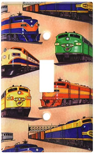 (Art Plates - Diesel Trains Switch Plate - Single Toggle)