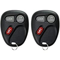 KeylessOption Keyless Entry Remote Control Car Key Fob Replacement for 15732803 (Pack of 2)