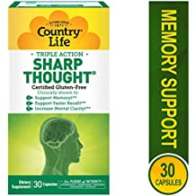 Country Life Sharp Thought - Supports Memory, Clarity and Faster Recall - 30 Capsules