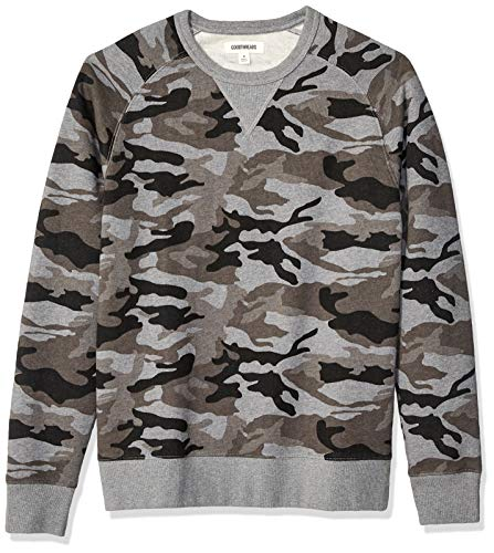 Goodthreads Men's Crewneck Fleece Sweatshirt, Grey Camo XX-Large