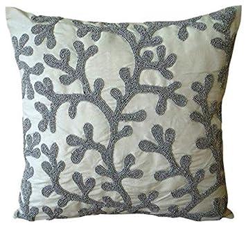 Amazon.com: Lujo cubierta almohadas Oro, Coral diseño playa ...