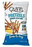 Quinn Snacks Non-GMO and Gluten Free Pretzels, Classic Sea Salt, 7 Ounce (3 Count)