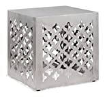 Modern Contemporary Stool, Silver Stainless Steel