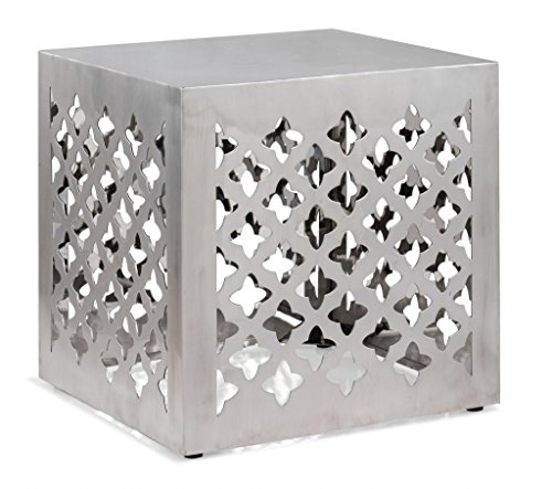 Modern Contemporary Stool, Silver Stainless Steel by America Luxury - Chairs (Image #4)
