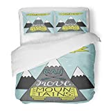 SanChic Duvet Cover Set Hand Lettering Your Faith Can Move Mountains Biblical Christian Modern Calligraphy Scripture Decorative Bedding Set with 2 Pillow Shams Full/Queen Size