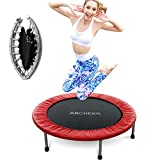 ANCHEER Mini Trampoline with Safety Pad, Bouncer Max Load 220lbs, Fitness Rebounder in-Home Trampoline for Kids Adults, Quiet and Safe Bounce Spring Mini Bouncer, Home/Office Cardio Trainer