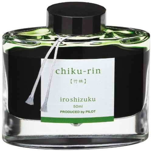 Light Green Ink - Pilot Iroshizuku Bottled Fountain Pen Ink, Chiku-rin, Bamboo Forest, Light Green (69222)