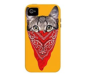 Gangster Cat iPhone 4/4s Botany Journal Tough Phone Case - Design By Humans