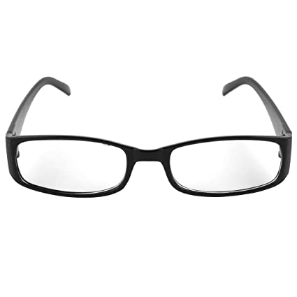 ba27489a93f Unisex Black Plastic Full Rim Frame Clear Lens Glasses  Amazon.co.uk  DIY    Tools