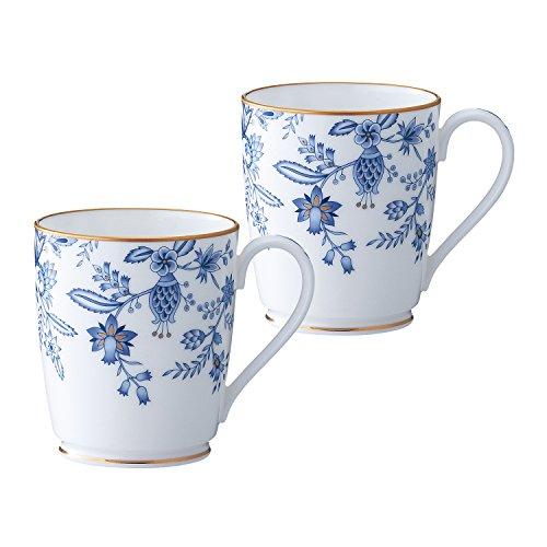 Bone china blue Sorrentino mugs pair set P97280/4562 (japan import)