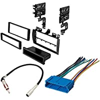 Cadillac Aftermarket Car Stereo Receiver CD Player Radio Single Din Dash Install Mounting Kit Harness No CD