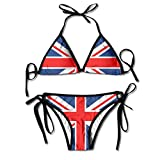 Aiw Wfdnn British Flag Women's Retro Adjustable Swimsuit Bikini Set