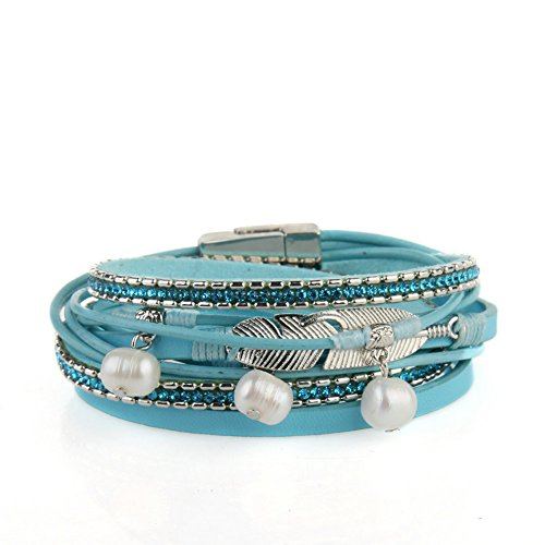 casual bracelet leather alloy personality woven fashion bracelets d pu vintage beaded men punk southcoastshades jewelry products anchor women