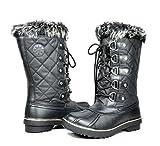 GW Women's 1560-1 Black Water Proof Snow Boots 8 M US