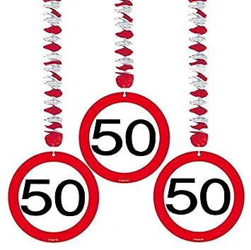 Amazon De 50 Geburtstag Deko Rotorspiralen Mit Zahl 50 3er Set