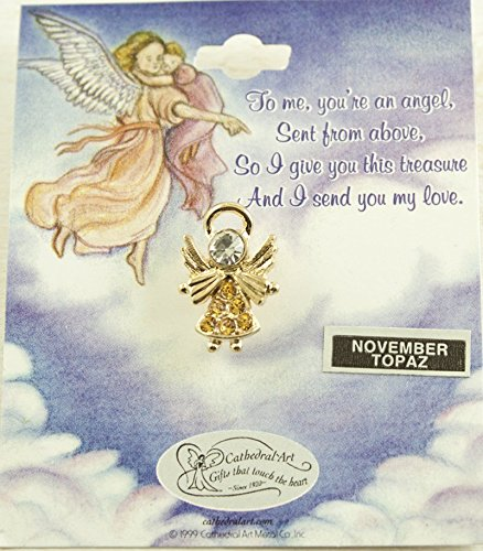 Cathedral Art AT80011 November Topaz Birthstone Angel