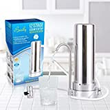 Countertop Water Purifier by Basily - 12 Stage Purification Process - High Capacity and Eco-friendly Design - Easy DIY Installation - Package includes 5 FREE Sediment Filters