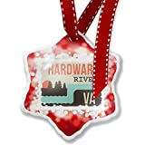 Christmas Ornament USA Rivers Hardware River - Virginia, red - Neonblond