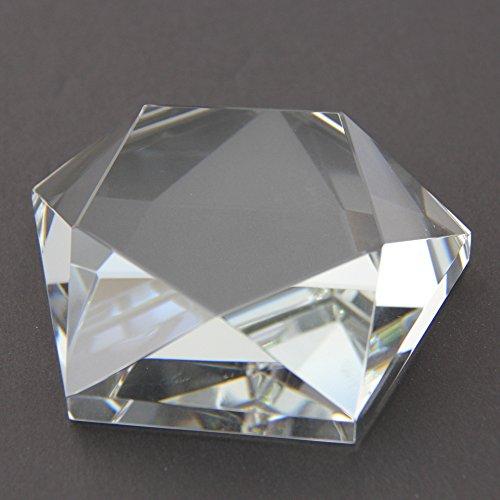 STAR CRYSTAL GLASS GEM PAPERWEIGHT