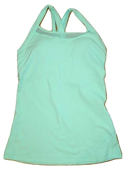 730e1202cb6b1 Image Unavailable. Image not available for. Color  Lululemon Rally Your  Heart Tank Size 8 Green Built in Bra Top ...
