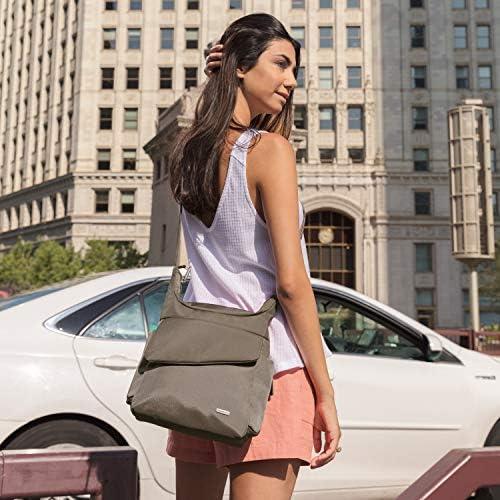 Travelon Anti-Theft Classic Messenger Bag, Black, One Size