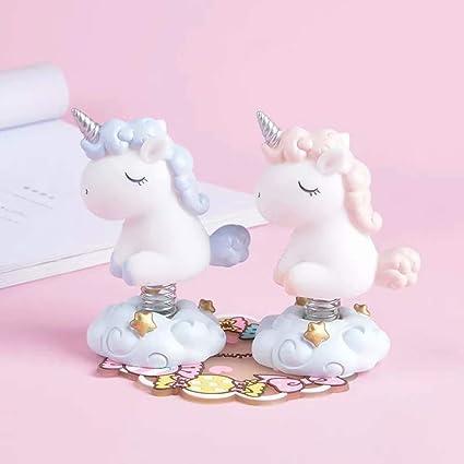 Amazon Com 2 Pack Lovely Unicorn Figurines Car Interior Display