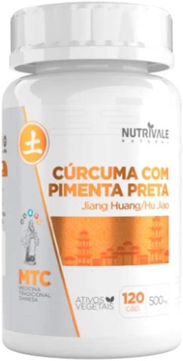 Curcuma Longa Com Pimenta Preta 650mg 120 capsulas - Nutrivale