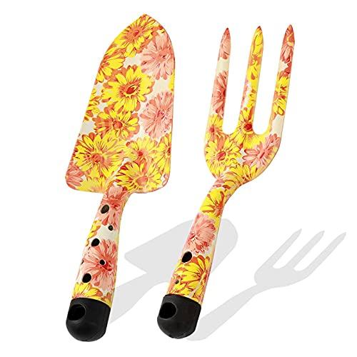 Kinedoo Gardening Hand Tools 2 Piece Garden Tool Set,Gardening Gift for Women and Men